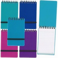 Snopake Noteguard Head Bound Notebook A6 Pack of 5 Assorted 150 Pages Ruled Feint 14324