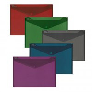 Snopake Fusion A4 Polyfile Assorted Colours 15643