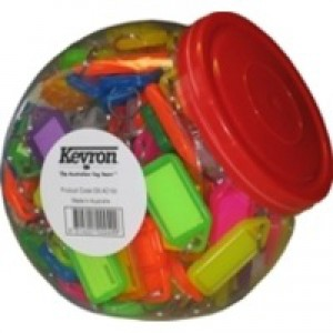Kevron Plastic Clicktag Key Tab Tub Assorted Pack of 150 ID5AC150