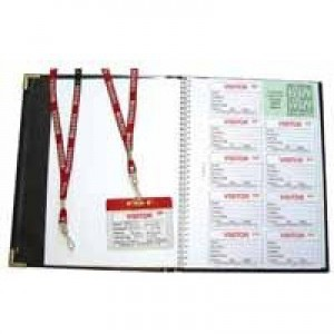 Identibadge Visitors Book with 100 Inserts/10 Pockets/10 Visitor Lanyards IBSSC4