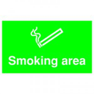 Safety Sign Smoking Area 300x500mm PVC MA04729R