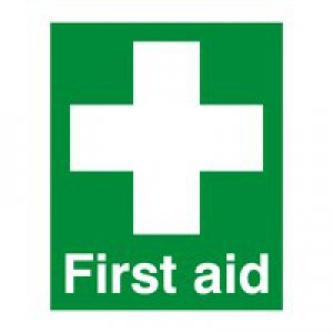 Safety Sign First Aid 100x250mm PVC FA00607R
