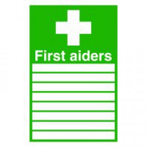 Safety Sign First Aiders 300x200mm Self-Adhesive FA01926S