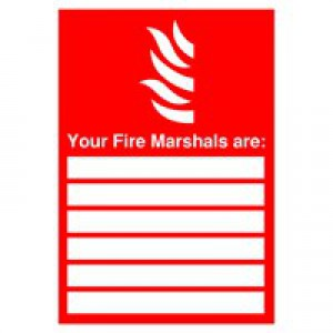 Safety Sign Your Fire Marshalls A4 PVC FR09850R