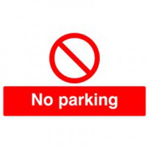 Safety Sign No Parking 300x500mm PVC ML01929R