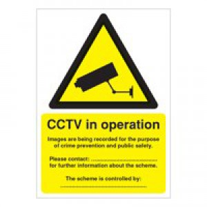 Warning Sign Data Protection Act-Compliant CCTV A5 Self-Adhesive DPACCTVS