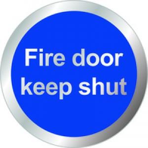 General Domed Sign Fire Door Keep Shut Symbol 60mm RDS9