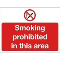 Image for Smoking Prohibited 450x600mm PVC Sign