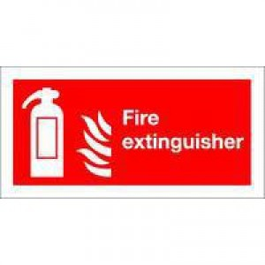 Safety Sign Fire Extinguisher Symbol 100x200mm Self-Adhesive F16D/S