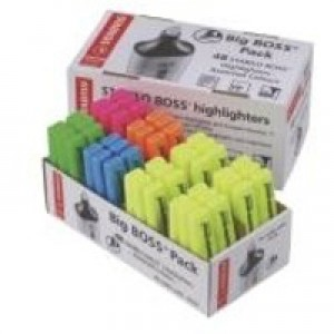 Stabilo Boss Highlighter Pen Pack of 48 Yellow/Blue/Green/Pink/Orange 70/48-1
