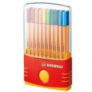 Stabilo Point 88 ColorParade Pack of 20 Assorted 8820-03