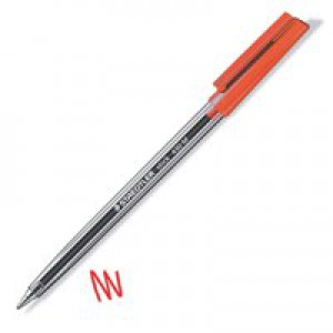 Staedtler Stick Ballpoint Pen Medium Red 430-M2