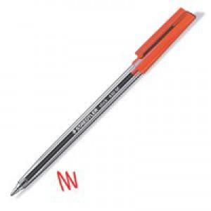 Staedtler Stick Ballpoint Pen Medium Red 430-M2