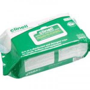 Clinell Universal Sanitising Wipes Pack 200 x 6 GCW200