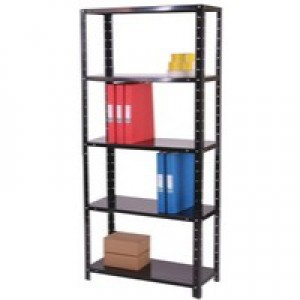 Storage Solutions Medium Duty Bolted 5-Shelf Unit D400mm Black ZZBS5BK180C09040