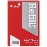 Silvine Refill Pad A5 80Lf FtM A5RPFM-T