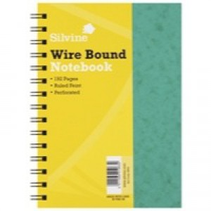Silvine Wirebound Notebook A5 96 Leaf Ruled Feint SPA5