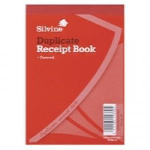 Silvine Duplicate Receipt Book 4x5.25 inches Gummed 230