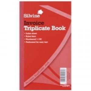 Silvine Triplicate Book 8.25x5 inches Invoice 619