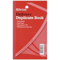 Silvine Duplicate Book 8.25x5 inches Delivery 613-T