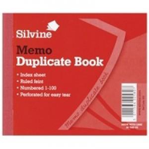 Silvine Duplicate Memo Book 102x127mm Pk12 603