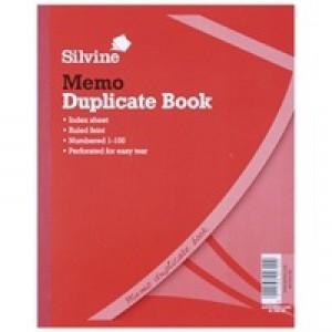 Silvine Duplicate Book 254x203mm Memo 602-T