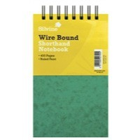 Silvine Spiral Bound Shorthand Notebook 5x8 inches 200 Leaf Ruled Feint 441-T