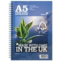 Silvine Twin Wire Notebook Blue A5 160 Pages R203 (FMS)