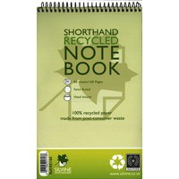 Silvine Spiral Bound Shorthand Pad Recycled 5x8 inches 80 Leaf RE160-T