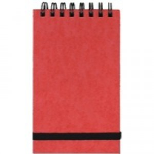 Silvine Spiral Bound Elastic Band Notebook 127x76mm 96 Leaf Ruled Feint 194