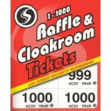 Silvine Cloakroom Ticket 1-1000 1000-T