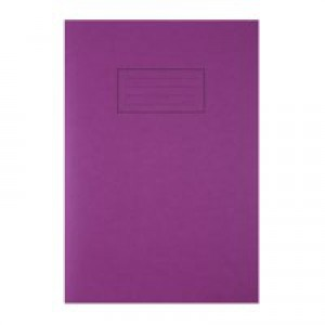 Silvine A4 Exercise Book 80 Pages Ruled Feint and Margin Purple EX111