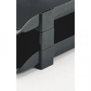 Rexel Agenda Variable Height Risers Se of 5 Charcoal Code 25224
