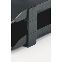 Twinlock V/H Risers Pk5 Charcoal 25224