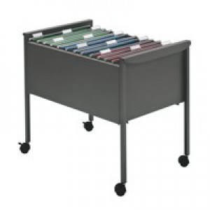 Suspension Filing Trolley for 100 Files Grey