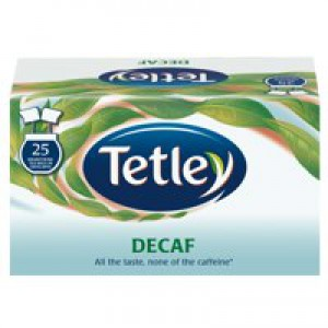 Tetley Draw String Tea Bag Decaffeinated Pk 6 x 25 1285B