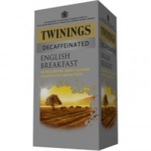 Twinings English Breakfast Tea Decaffeinated Envelope Tea Bag Pack of 20 F08201
