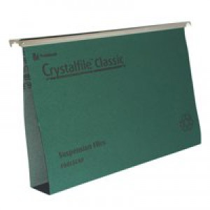 Twinlock CrystalFile Classic Suspension File Complete 50mm Foolscap Green Pack of 50 71750