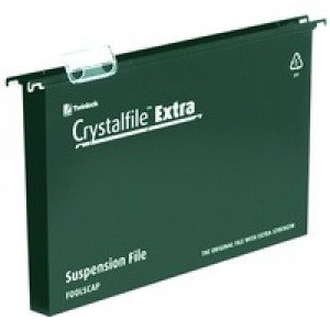 Twinlock CrystalFile Extra 30mm A4 Green Pack of 25 71759