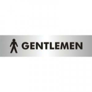 Stewart Superior Self-Adhesive Acrylic Sign Gentlemen Aluminium BAC112