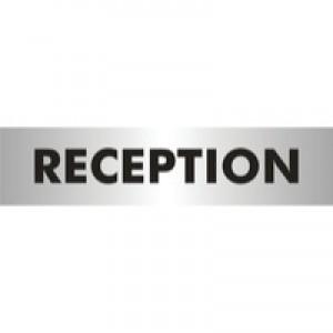 Acrylic Sign Reception Aluminium SR22364
