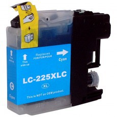 Brother LC225XL Cyan Remanufactured Cartridge