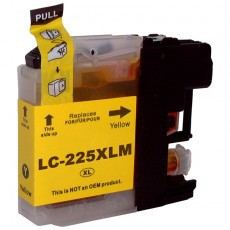 Brother LC225XL Yellow Remanufactured Cartridge