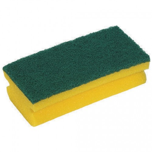 Abrasive Easigrip Sponge Scouring Pad, Yellow/Green