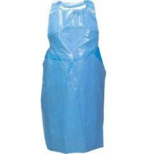 Disposable Aprons Blue 27 x 42 Pk 100