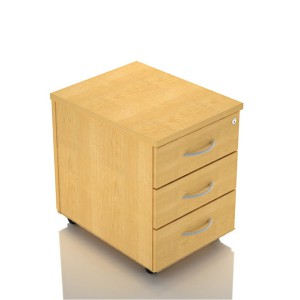 Image for 3 drawer beech pedestal