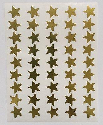 13mm Gold Foil Stars Pk135