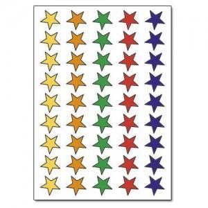 13mm Foil Stars Asstd Pk90