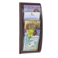 Image for  Fast Paper Literature Holder Wall Mount 4 x A4 Pockets Portrait Black Ref 4061.01