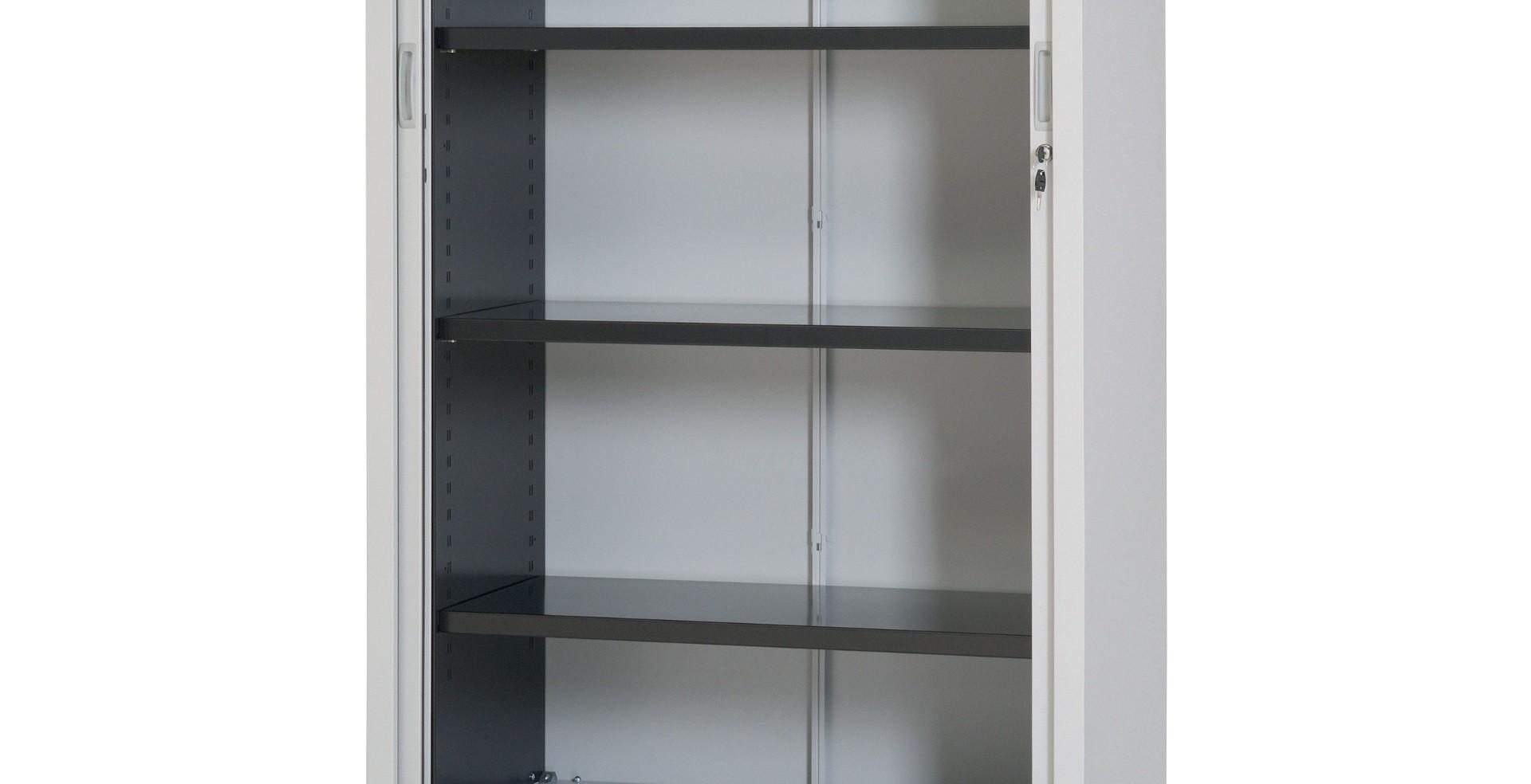 Plain steel shelf for Tambour door cupboard